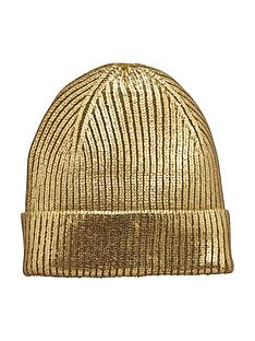 v-by-very-metallic-beanie-hat