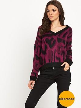 noisy-may-leon-ls-knit-v-neck-knit