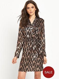vero-moda-black-gold-wrap-dress