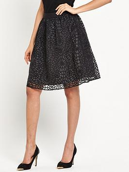 vero-moda-printed-midi-skirt-black