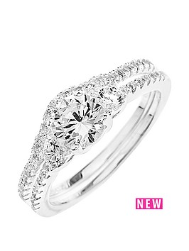 sterling-silver-cubic-zirconia-2-piece-ring-set