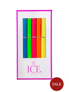 ice-london-set-of-5-neon-pens