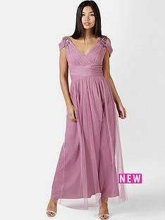 little-mistress-embellished-drape-shoulder-maxi-dress-rose