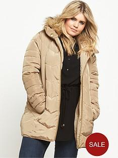 so-fabulous-short-padded-belted-coat-stone