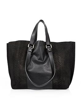 river-island-suedeleather-double-handle-bag-black
