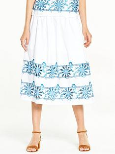 warehouse-embroidered-midi-skirt