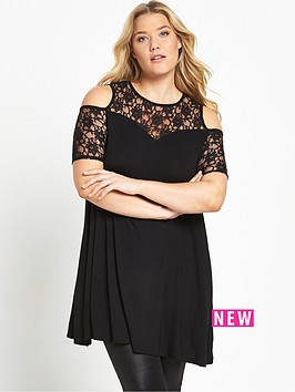 so-fabulous-curve-lace-sleeve-swing-tunic