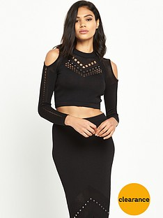 river-island-cold-shoulder-mesh-knitted-crop-topnbsp
