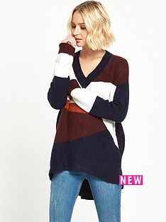 river-island-river-island-oversized-high-neck-blocked-jumper