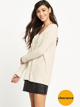 river-island-cream-cable-knit-jumper