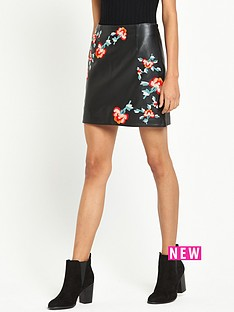river-island-embroidered-leather-look-mini-skirt