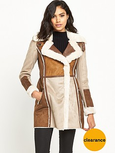 river-island-faux-shearling-suedette-coat