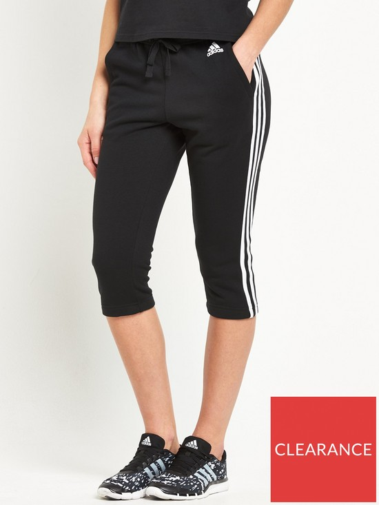 adidas Essentials 3 Stripe 3 4 Pants  2682c813f545