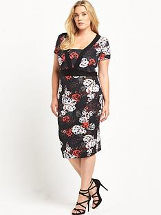 so-fabulous-curve-panelled-printednbsppencil-dress-red-floral