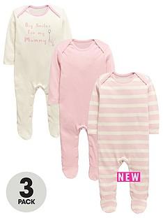 ladybird-baby-girls-pink-core-sleepsuitsnbsp3-pack