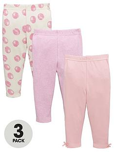 ladybird-baby-girls-spot-marl-and-bow-leggings-3-pack