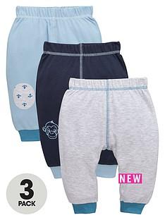 ladybird-baby-boys-3pk-interlock-monkey-amp-anchor-joggers