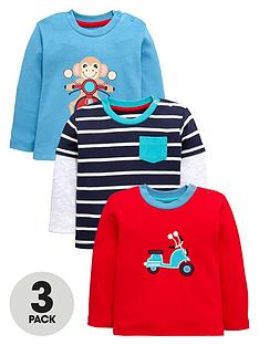 ladybird-baby-boys-monkey-stripe-and-motorbike-t-shirts-3-pack