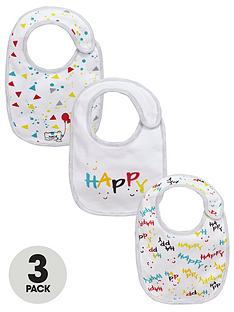 ladybird-baby-unisex-bear-and-happy-slogan-bibs-3-pack