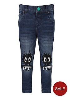 mini-v-by-very-boys-appliquenbspfunny-face-knee-jeans