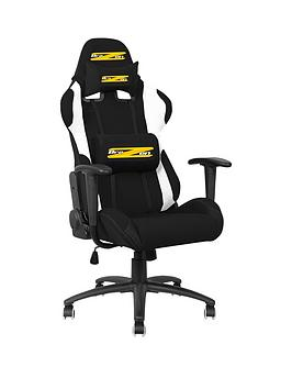 brazen shadow pro pc gaming chair black and white