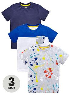 mini-v-by-very-boys-colour-block-paint-print-and-plain-t-shirts-3-pack