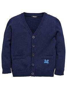 mini-v-by-very-boys-v-neck-cardigan-navy