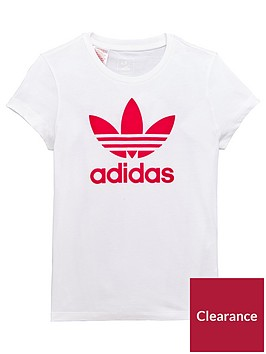adidas-originals-oldernbspgirls-trefoil-t-shirt-whitenbsp