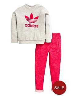 adidas-originals-baby-girls-logo-tee-and-shorts-set
