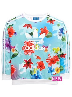 adidas-originals-adidas-originals-older-girls-floral-sweat-top