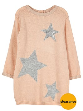 river-island-mini-girls-pink-star-knit-jumper-dress