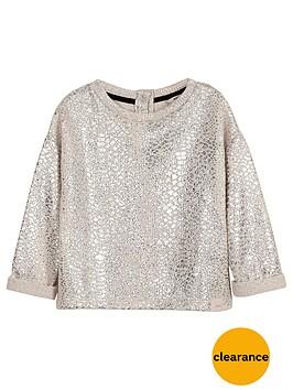 river-island-mini-girls-cream-foil-slouch-sweatshirt