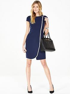 v-by-very-pipe-detail-shift-dress