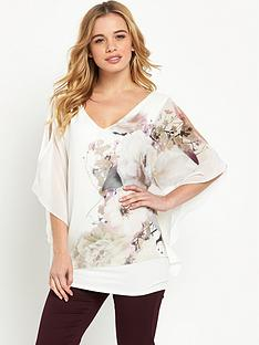 wallis-petite-floral-overlayer-top