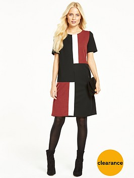 wallis-ponte-colour-block-dress