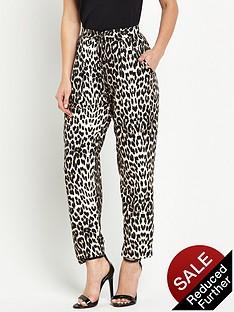 wallis-petite-animal-print-trouser