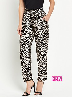 wallis-wallis-petite-animal-print-trouser