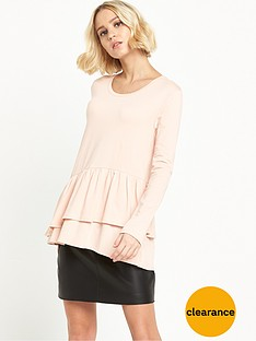 vila-officiel-frill-jersey-top