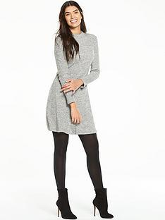 v-by-very-ribbed-skater-dress-with-highnbspneck-designnbsp