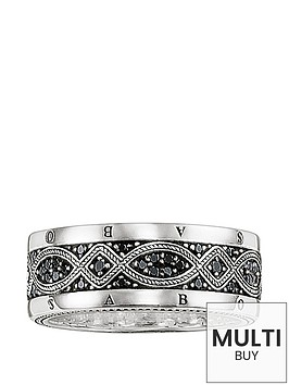 thomas-sabo-sterling-silver-cubic-zirconia-mens-logo-ringnbspplus-free-diamond-bracelet