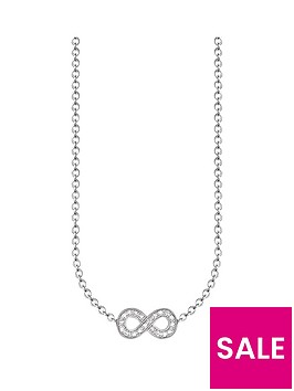 thomas-sabo-sterling-silver-diamond-set-infinity-necklace