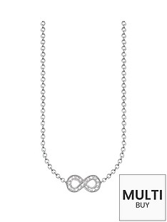 thomas-sabo-sterling-silver-diamond-set-infinity-necklacenbspplus-free-diamond-bracelet