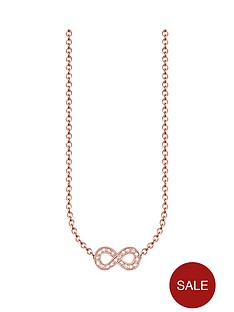 thomas-sabo-sterling-silver-rose-gold-plated-diamond-set-infinity-necklace
