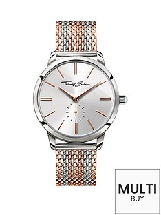 thomas-sabo-glam-spirit-silver-tone-dial-rose-accent-rose-striped-mesh-bracelet-ladies-watchnbspplus-free-diamond-bracelet