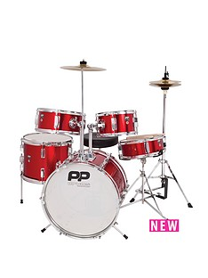 pp-5-piece-junior-drum-kit-red