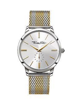 thomas-sabo-rebel-spirit-silver-tone-dial-two-tone-gold-mesh-mesh-bracelet-mens-watch