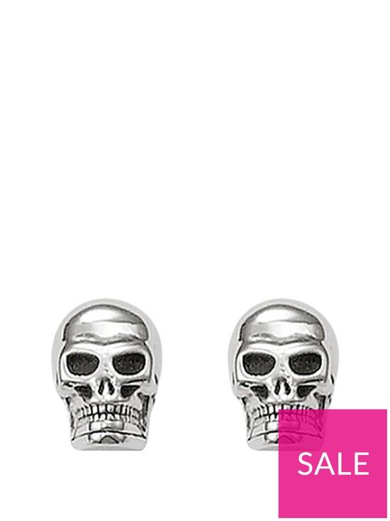 e71226732 Thomas Sabo Sterling Silver Skull Earrings   very.co.uk