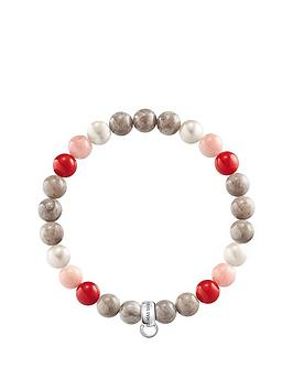 thomas-sabo-seminbspprecious-bead-pink-and-red-stretch-charm-bracelet