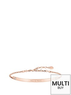 thomas-sabo-love-bridge-sterling-silver-rose-gold-plate-cubic-zirconia-heart-personalised-braceletnbspplus-free-diamond-bracelet