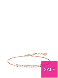 thomas-sabo-sterling-silver-rose-gold-plated-cubic-zirconia-bracelet